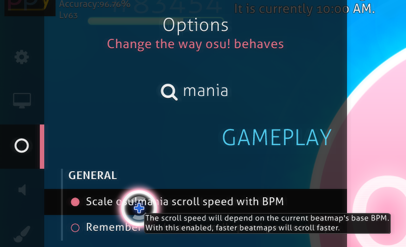 Activate Fixed scaling by disabling Scale osu!mania scroll speed with BPM
