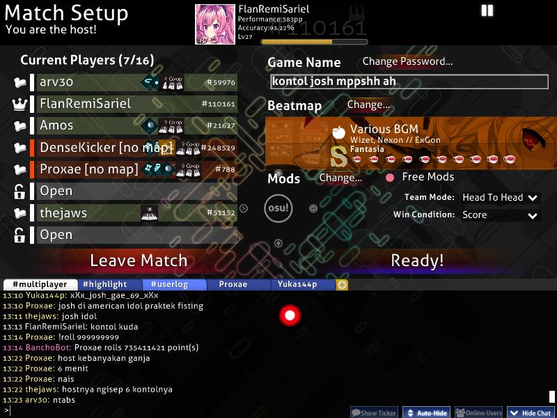 Flanremisariel Player Info Osu