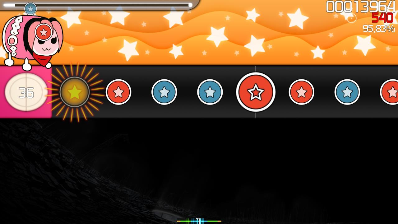 Gameplay of osu!taiko
