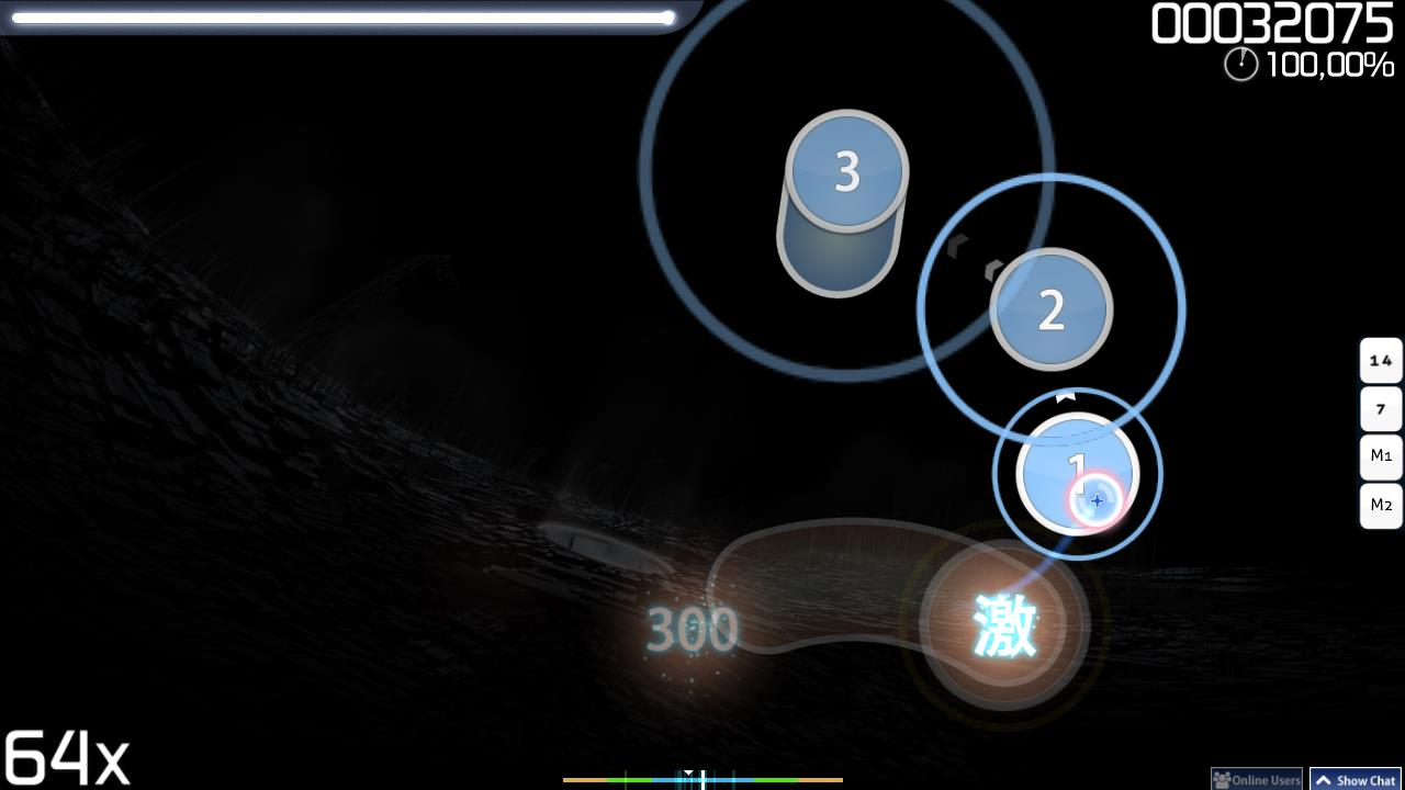 Gameplay of osu!