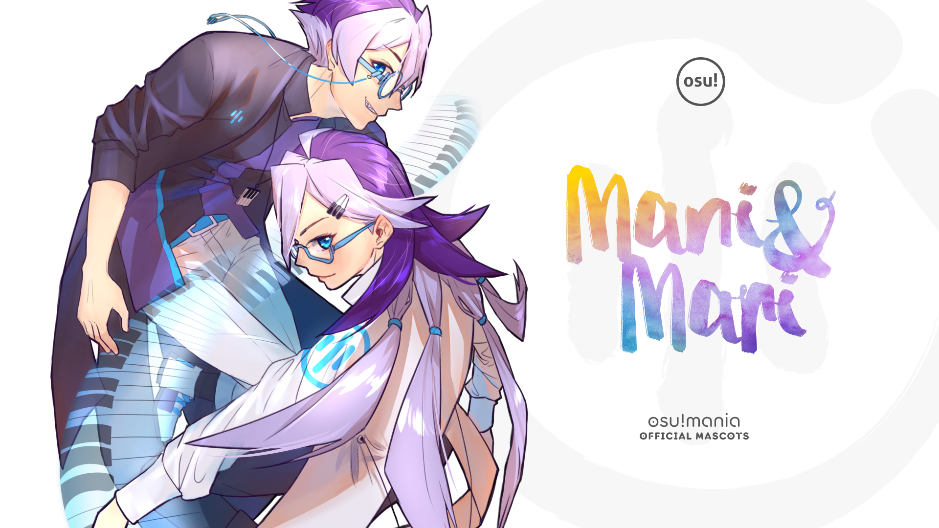 Osu Halloween 2020 Fanart Download Introducing Mani and Mari, the New osu!mania Mascots · news | osu!